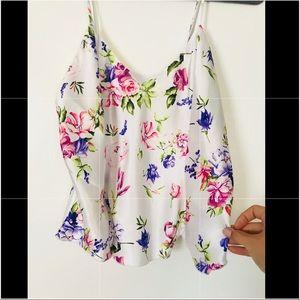 NWT Fredrick's of Hollywood silk floral cami